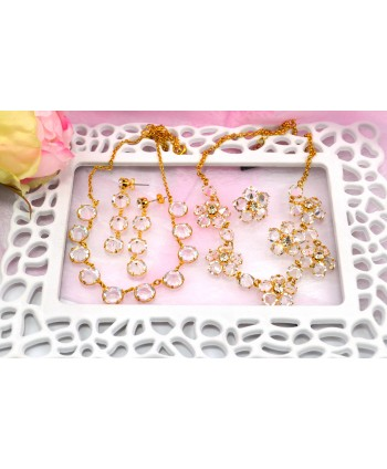 Komplet kryształki w złocie model do wyboru