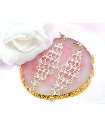 Kolczyki kryształki w kształcie rombu