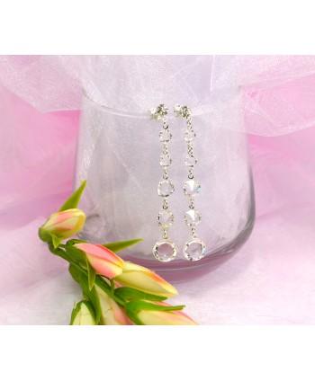 Kolczyki kryształki w srebrze