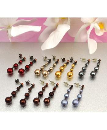 Kolczyki perełki w kolorach