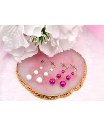 Kolczyki wiszące perełki w kolorach