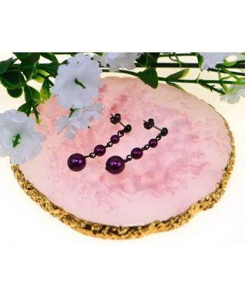 Naszyjnik z szarych perełek