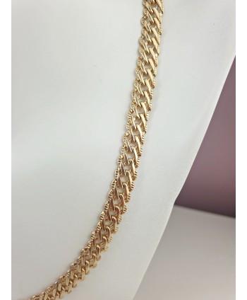 Łańcuszek stal złoty gruby splot