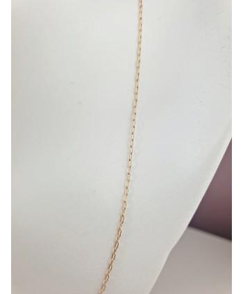Łańcuszek stal złoty 44 cm