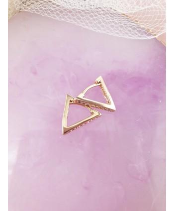 Kolczyki stal trójkąciki