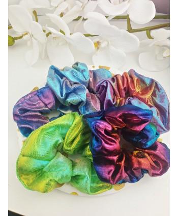 Gumki scrunchie kolory holo