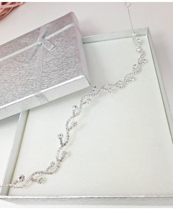 Ozdoba do włosów srebrna