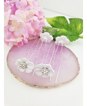 Kokówki białe kwiatuszki