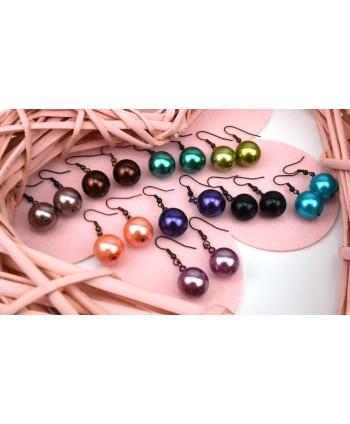 Kolczyki kulki kolory