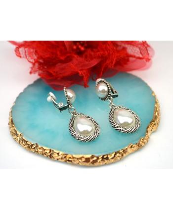 Komplet biżuterii stal cyrkonie