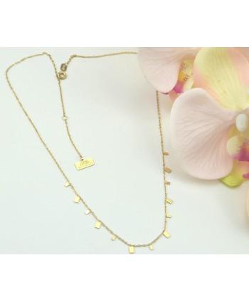 Komplet biżuterii kryształki kwiatki