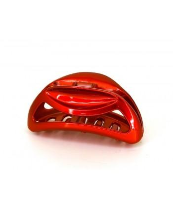 Spinka klamra szczęka francuska czerwona błyszcząca OS0365