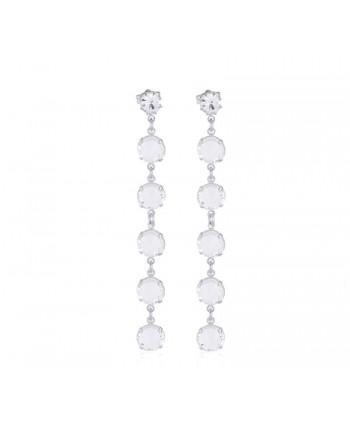 Kolczyki- biały chanel- 5 cm