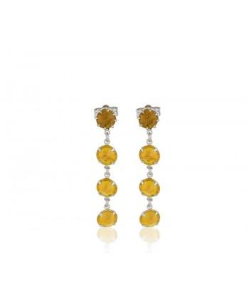 Kolczyki- fioletowy chanel- 5 cm