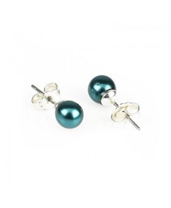 Kolczyki perła czarna szlifowana 0