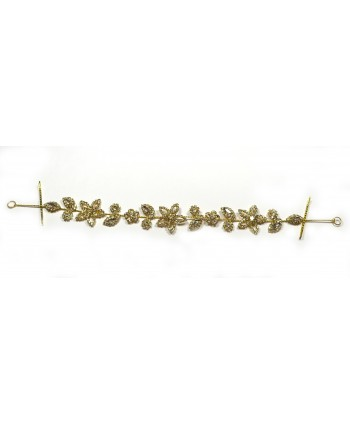 Pierścionek kwiatuszek z perełek PR0061
