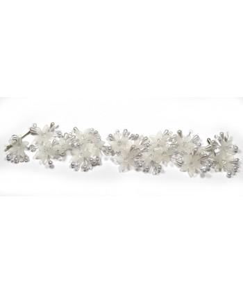 Ozdoba do włosów srebrna kwiaty