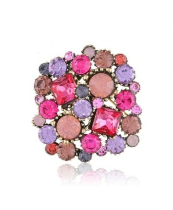 Broszka z kolorowych kryształów