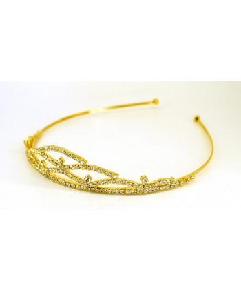 Opaska czarno złota OZ0293
