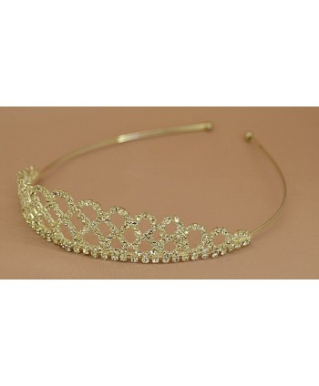 Diadem srebrny korona