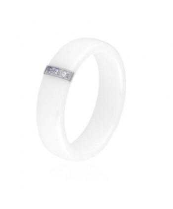 Pierścionek ceramiczny biały