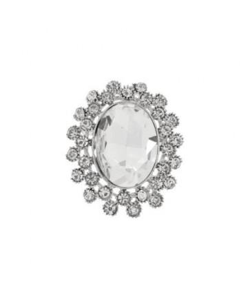 Broszka srebrna owalny kamień