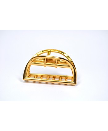 Spinka klamra szczęka metalowa złota