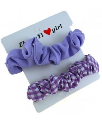 Gumki do włosów fioletowe - zestaw 2 szt