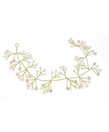 Spinki białe kwiatki