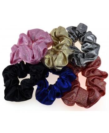 Gumka scrunchie błyszcząca - kolory do wyboru