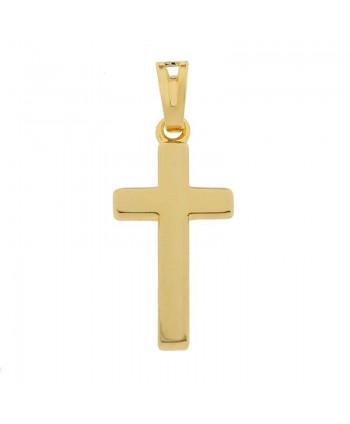 Zawieszka pozłacana krzyż