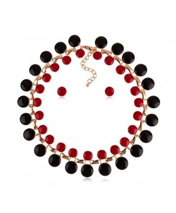 Komplet czerwono-czarny KM9002