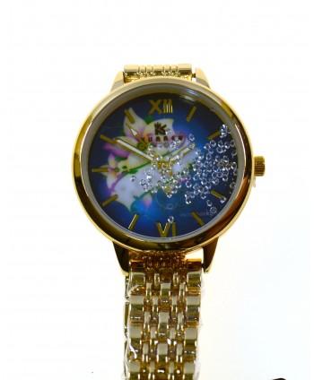 Zegarek damski na bransolecie , złoty