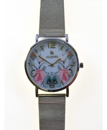 Zegarek damski, na bransolecie, srebrny
