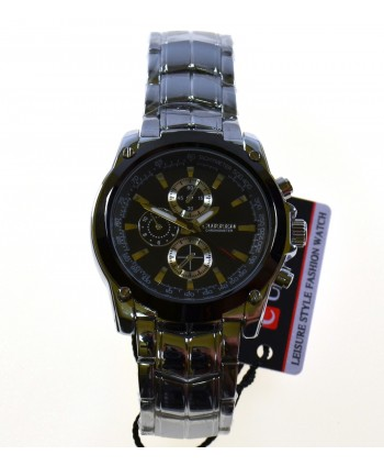 Zegarek męski, na bransolecie ,srebrny