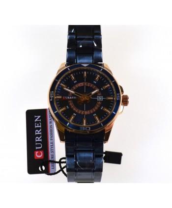 Zegarek męski, na bransolecie, granatowy
