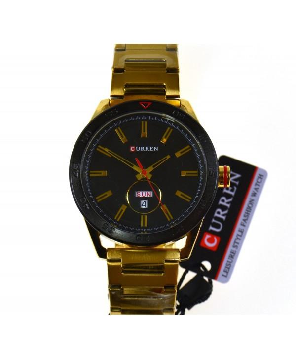 Zegarek męski, na bransolecie, złoty