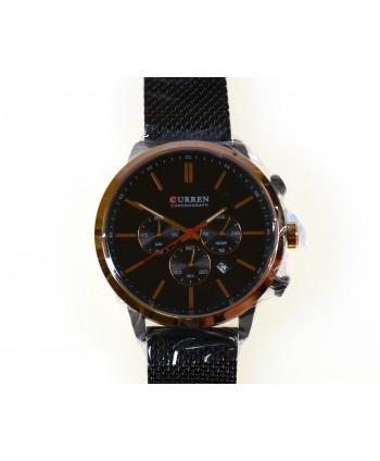 Zegarek męski, na bransolecie , czarny