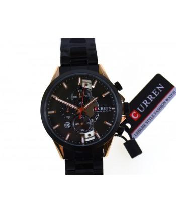 Zegarek męski, na bransolecie, czarny