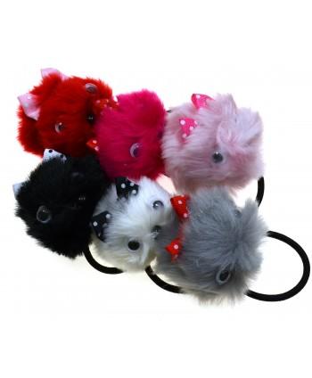 Gumki do włosów, pompony, kolory