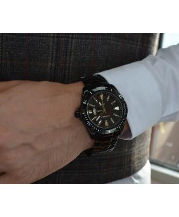 Zegarek męski  ,na bransolecie, czarny