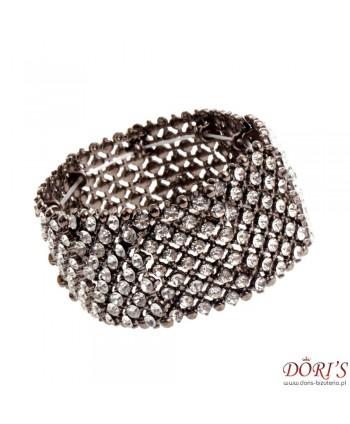 Bransoletka stalowo-srebrna