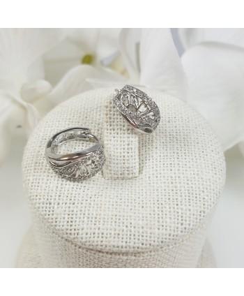 kolczyki stalowe srebrne kółeczka
