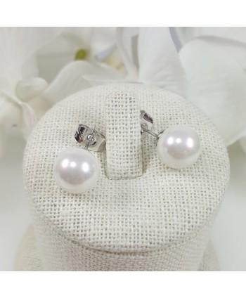 kolczyki stalowe perełki
