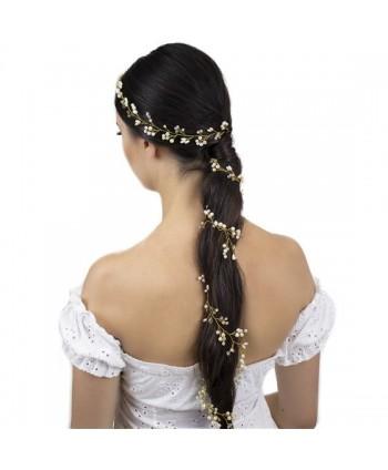 Ozdoba do włosów długa złota