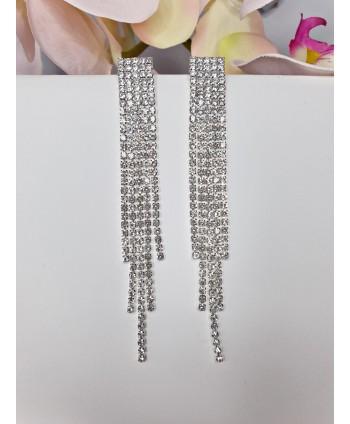 Ozdobne kolczyki srebrne proste