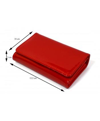 Portfel damski czerwony lakierowany
