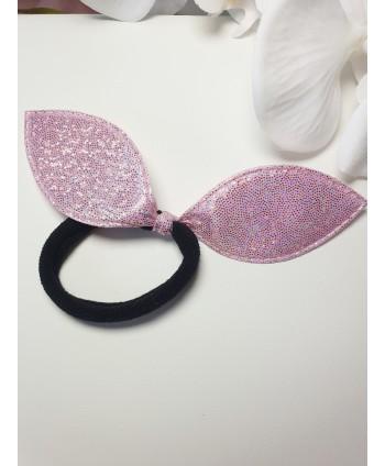 Satynowa gumka scrunchies w kolorze fuksji