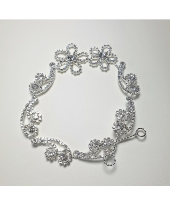 Ozdoba na druciku srebrna z kwiatkami