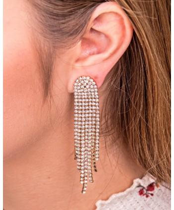 Opaska do włosów z kryształkami i perełkami